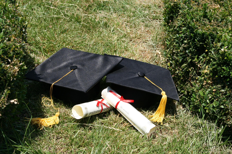Mortar boards and diplomas