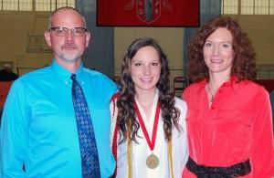 Mom, Dad and Grace - Graduation