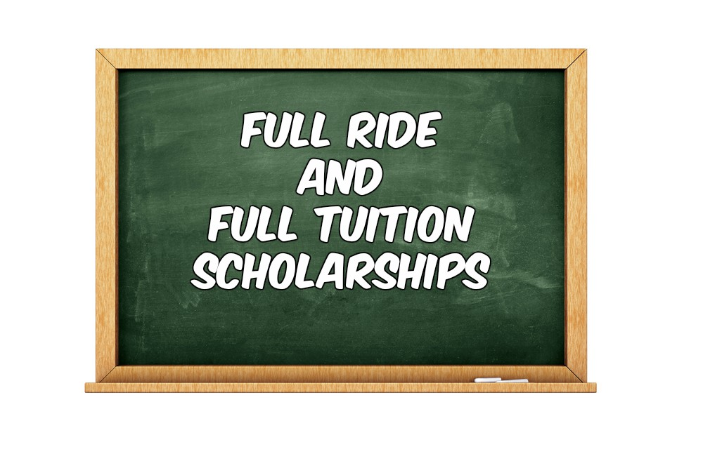Full Ride and Full Tuition Scholarships