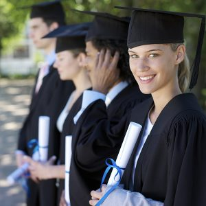 Students with diplomas