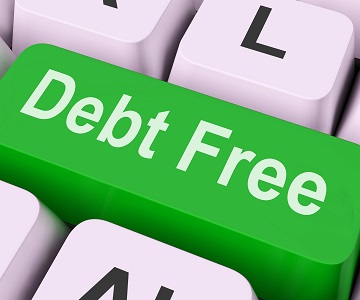 Debt-Free Key on Keyboard
